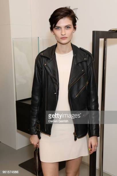 Lara Mullen attends the Maison Alaia London store opening Maison Alaia on April 26 2018 in London England