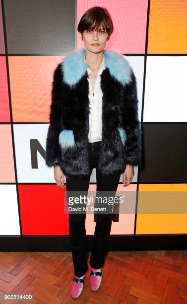 Lara Mullen attends the Topman LFWM party at Mortimer House on January 7, 2018 in London, England.