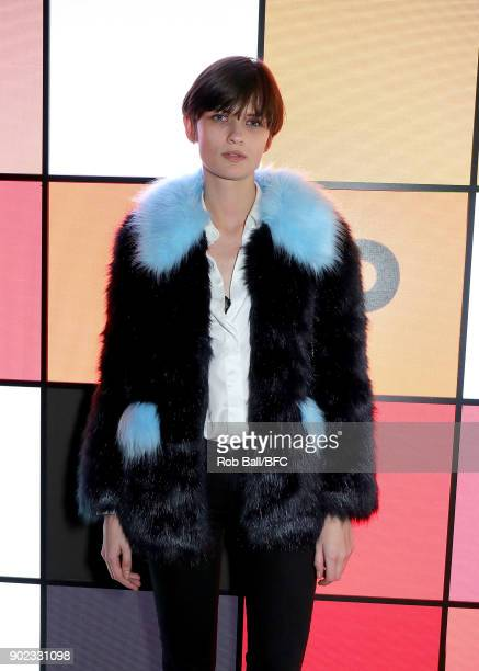 Lara Mullen attends the TOPMAN LFWM Party during London Fashion Week Men's January 2018 at Mortimer House on January 7 2018 in London England
