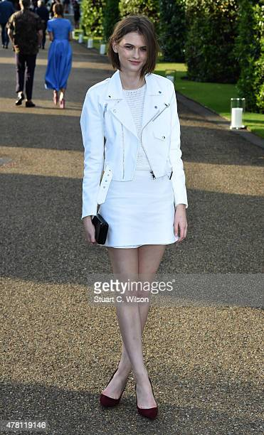 Lara Mullen attends the Vogue and Ralph Lauren Wimbledon party at The Orangery on June 22 2015 in London England