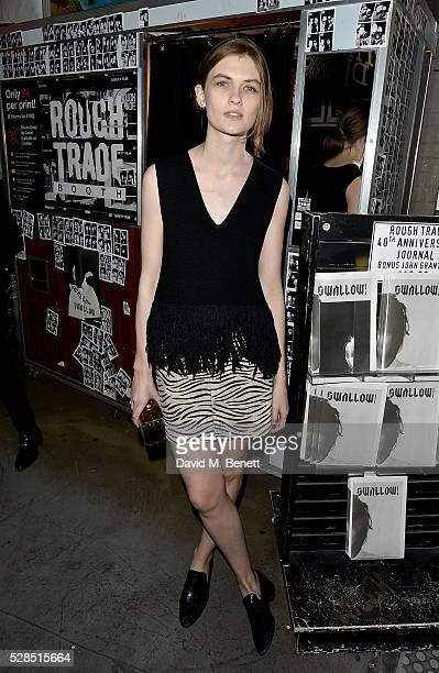 Lara Mullen attends to celebrate the launch of McQ Swallow Capsule collection at Rough Trade East on May 5 2016 in London England