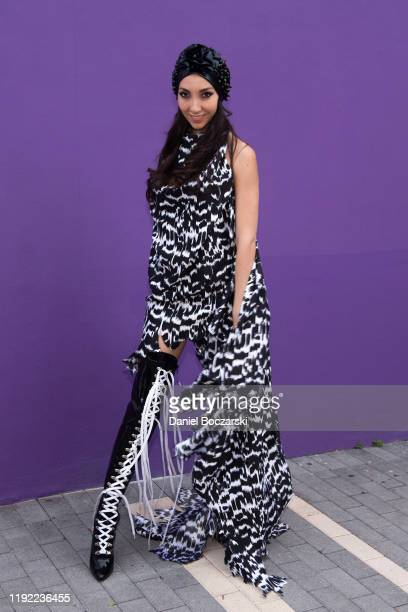 Lara Padilla attends the Patricia Field ARTFASHION press preview and VIP cocktail reception during Art Basel Miami Beach 2019 on December 05 2019 in...