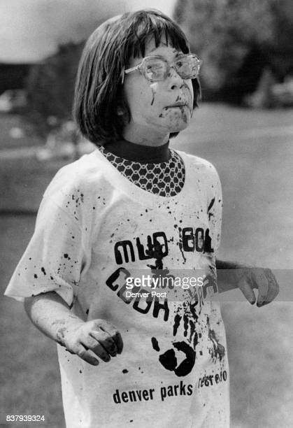 Lara Perkins found herself splattered with mud up to her eyeballs and covering her glasses after she finished the race Nearly 250 kids competed...