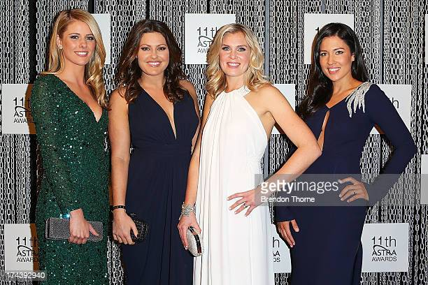 Lara Pitt Alana Smith Sarah Jones and Melanie McLaughlin arrives at the 11th Annual ASTRA Awards at the Sydney Theatre on July 25 2013 in Sydney...