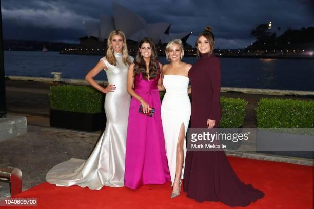 Lara Pitt Hannah Hollis Jessica Yates and Yvonne Sampson arrive at the 2018 Dally M Awards at Overseas Passenger Terminal on September 26 2018 in...