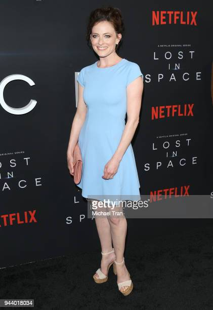 Lara Pulver arrives to the Los Angeles premiere of Netflix's 'Lost In Space' Season 1 held at The Cinerama Dome on April 9 2018 in Los Angeles...