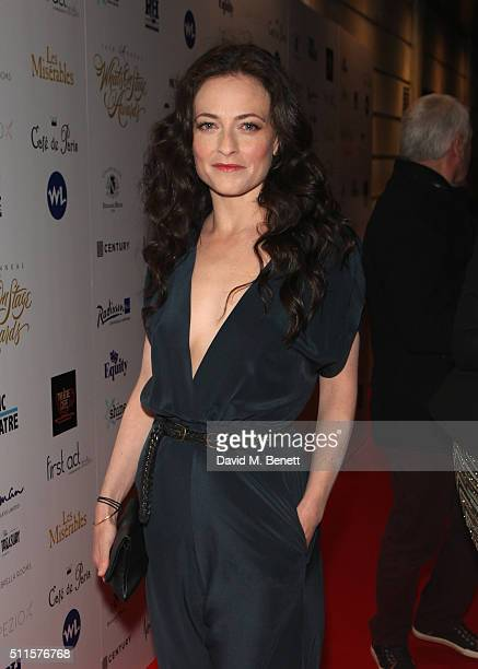 Lara Pulver attends the 16th Annual WhatsOnStage Awards at The Prince of Wales Theatre on February 21 2016 in London England