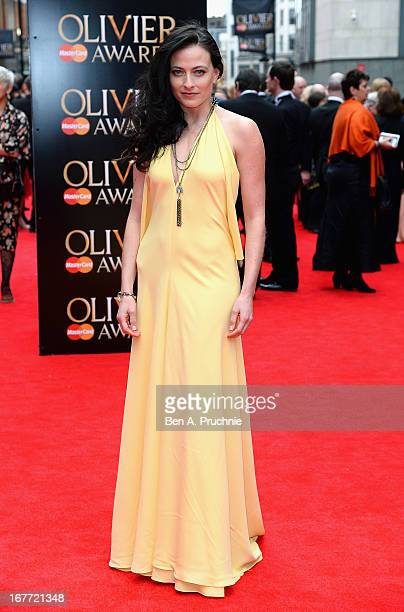 Lara Pulver attends The Laurence Olivier Awards at the Royal Opera House on April 28 2013 in London England