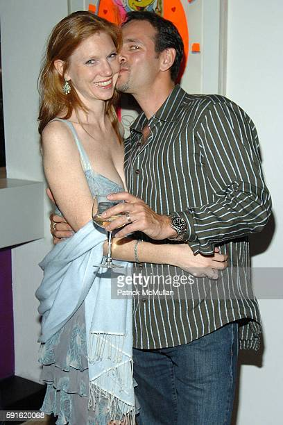 Lara Schlachet and David Schlachet attend Party to Celebrate the Opening of PIZZA BAR at Pizza Bar on June 9 2005 in New York City