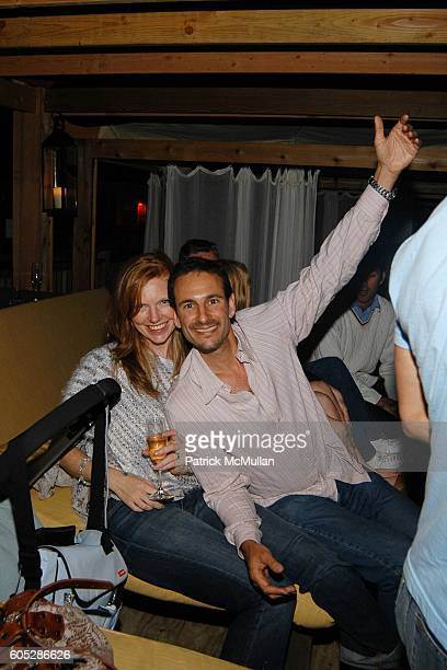 Lara Schlachet and David Schlachet attend Pink Elephant at Pink Elephant on May 27 2006 in Southampton NY