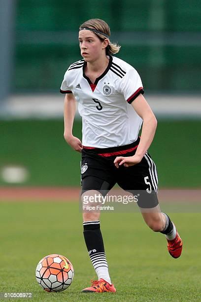 Lara Schmidt of Germany during the UEFA Women Under16 match between U16 Scotland v U16 Germany on February 13 2016 in Vila Real de Santo Antonio...