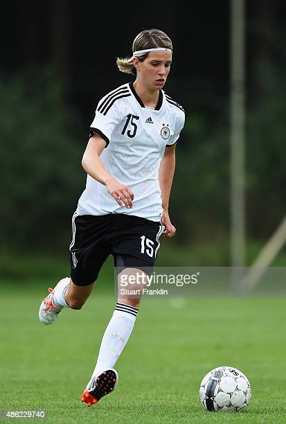 Lara Schmidt of Germany in action during the International friendly match between U16 Girl's Denmark and U16 Girl's Germany on September 2 2015 in...