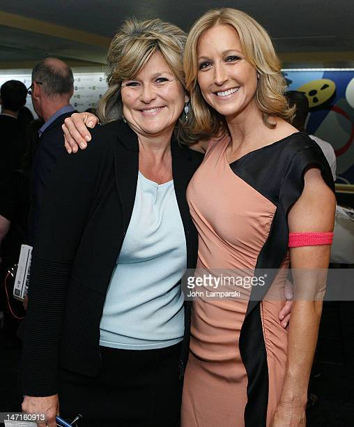 Lara Spencer and Cynthia McFadden attend the ABC News Bone Marrow Drive at ABC Studios on June 26 2012 in New York City