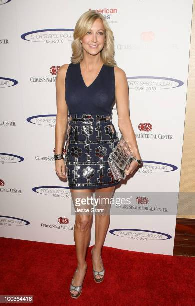 Lara Spencer arrives at the 25th anniversary of CedarsSinai Sports Spectacular at the Hyatt Regency Century Plaza on May 23 2010 in Century City...