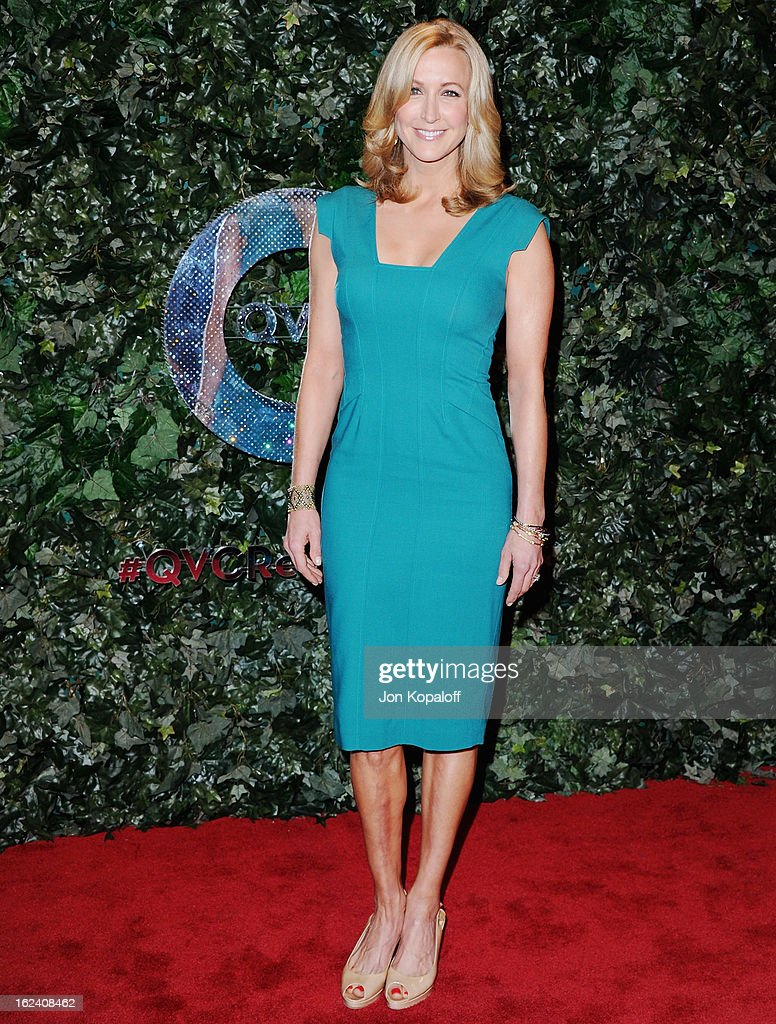 Lara Spencer arrives at the QVC Red Carpet Style Party at Four Seasons Hotel Los Angeles at Beverly Hills on February 22, 2013 in Beverly Hills, California.