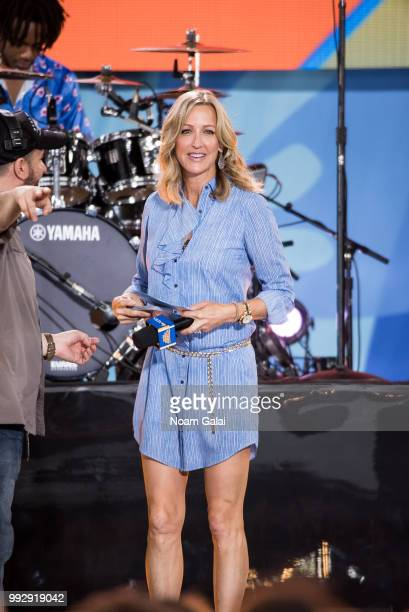 Lara Spencer attends ABC's 'Good Morning America' at Rumsey Playfield Central Park on July 6 2018 in New York City