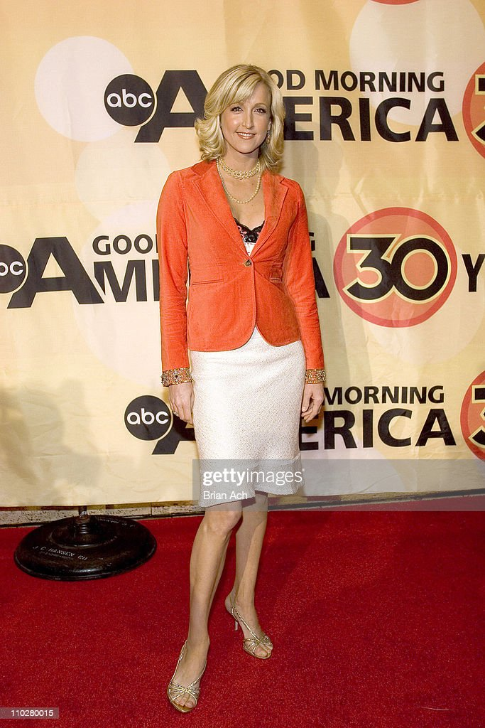 Lara Spencer during 'Good Morning America' 30th Anniversary Celebration at Lincoln Center in New York City, New York, United States.