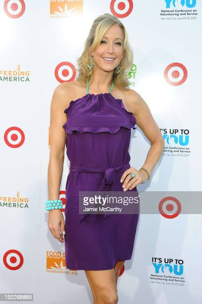 Lara Spencer helped assemble 150000 meals at the Target Party for Good Making Meals to Feed Young Minds on June 29 as part of the 2010 National...