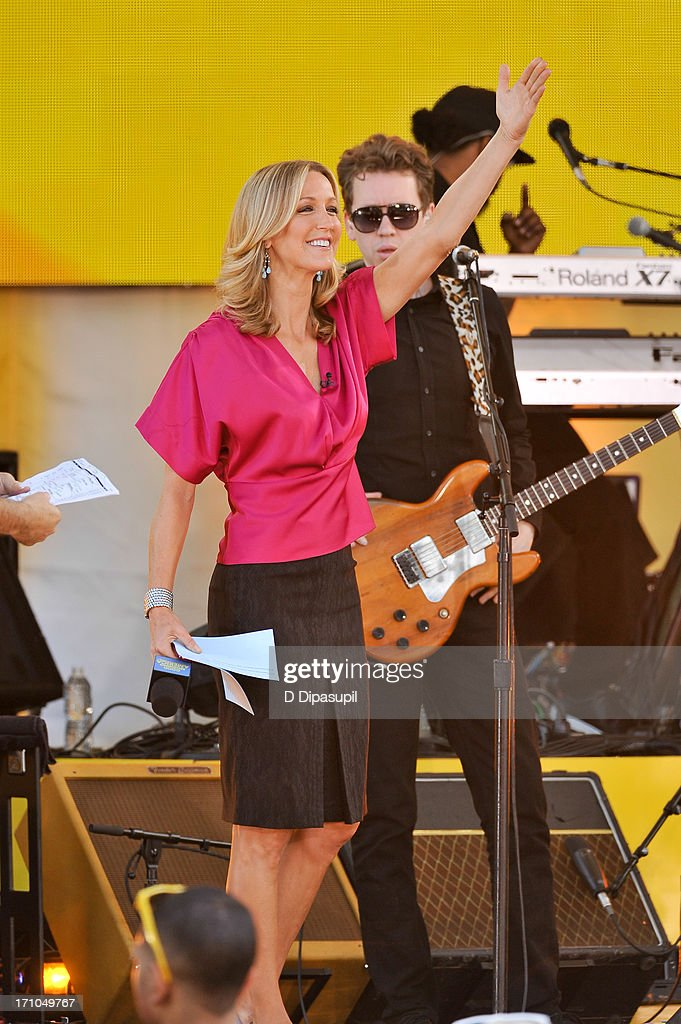 Lara Spencer hosts ABC's 'Good Morning America' at Rumsey Playfield on June 21, 2013 in New York City.