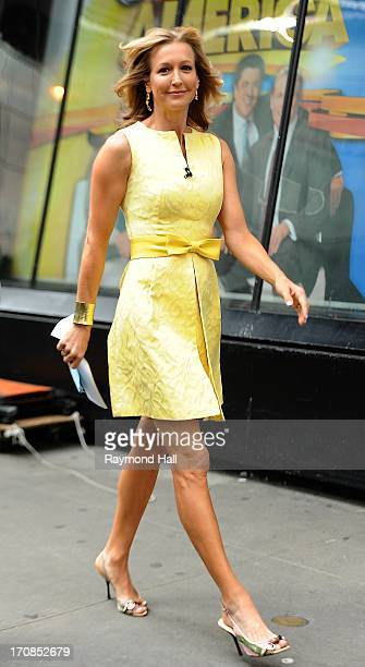 Lara Spencer is seen outside Good Morning America ABC Studios in Times Square on June 19 2013 in New York City