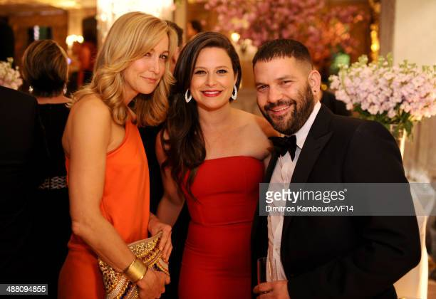 Lara Spencer Katie Lowes and Guillermo Diaz attend the Bloomberg Vanity Fair cocktail reception following the 2014 WHCA Dinner at Villa Firenze on...