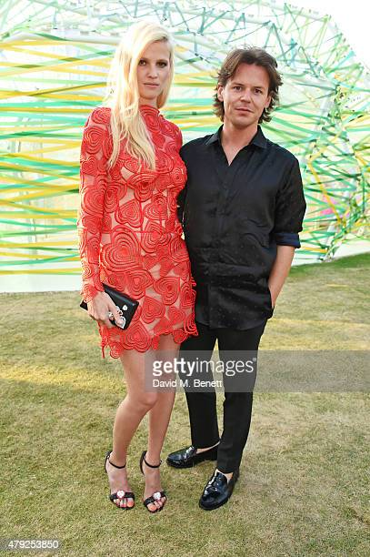 Lara Stone and Christopher Kane attend The Serpentine Gallery summer party at The Serpentine Gallery on July 2 2015 in London England