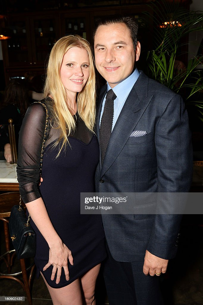 Lara Stone and David Walliams attend the afterparty for Midsummer Nights Dream at The National Gallery on September 17, 2013 in London, England.