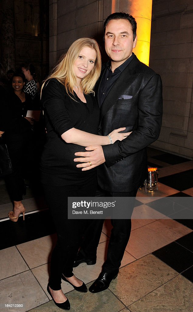 Lara Stone (L) and David Walliams attend the dinner to celebrate The David Bowie Is exhibition in partnership with Gucci and Sennheiser at the Victoria and Albert Museum on March 19, 2013 in London, England.