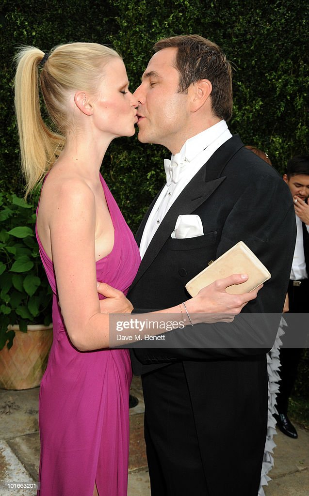 Lara Stone and David Walliams attend the Raisa Gorbachev Foundation Party, at Stud House, Hampton Court Palace on June 5, 2010 in Richmond upon Thames, London, England. The night is in aid of the Raisa Gorbachev Foundation, an international fund fighting child cancer.