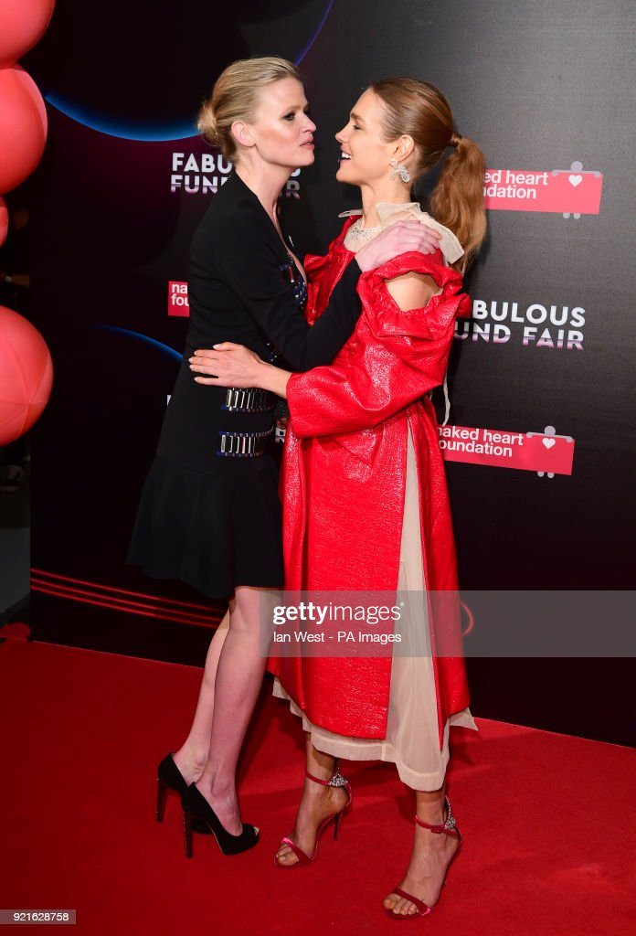 Lara Stone (left) and Natalia Vodianova attending the Naked Heart Foundation Fabulous Fun dFair held at The Roundhouse in Chalk Farm, London.
