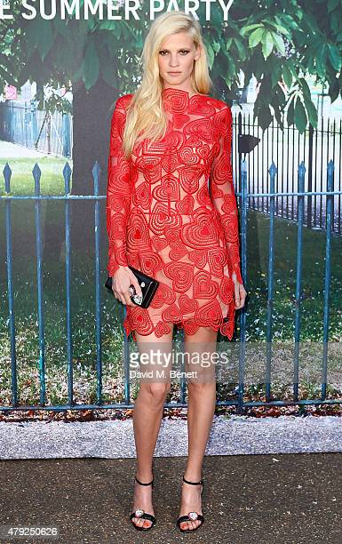 Lara Stone arrives at The Serpentine Gallery summer party at The Serpentine Gallery on July 2 2015 in London England