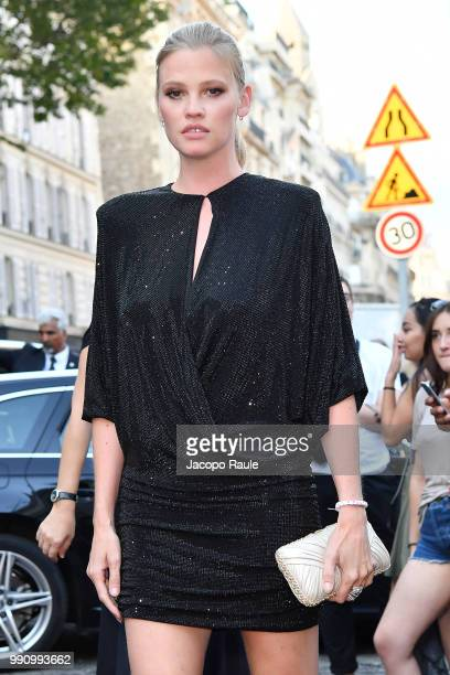 Lara Stone arrives at the 'Vogue Foundation Dinner 2018' at Palais Galleria on July 3 2018 in Paris France