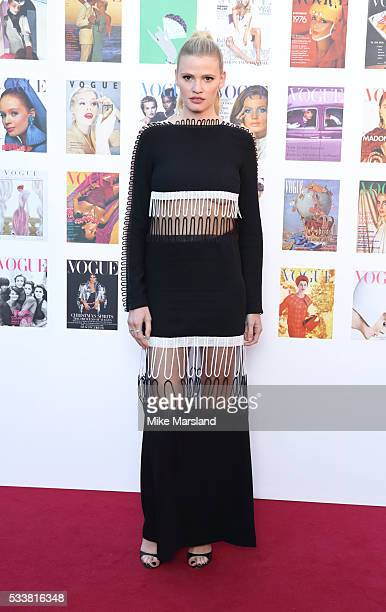 Lara Stone arrives for the Gala to celebrate the Vogue 100 Festival Kensington Gardens on May 23 2016 in London England