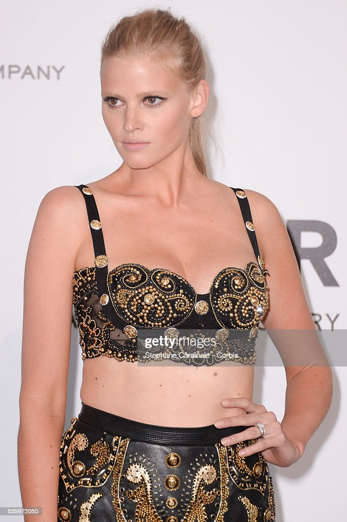 Lara Stone at the amfAR's 21st Cinema Against AIDS Gala at Hotel du Cap-Eden-Roc during the 67th Cannes Film Festival