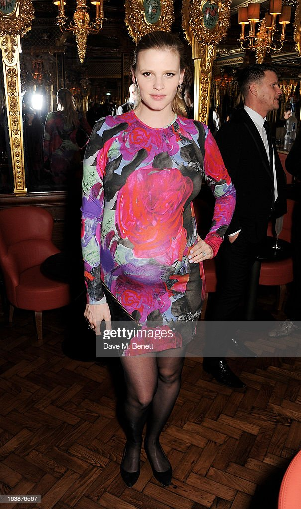 Lara Stone attends a drinks reception celebrating Patrick Cox's 50th Birthday party at Cafe Royal on March 15, 2013 in London, England.