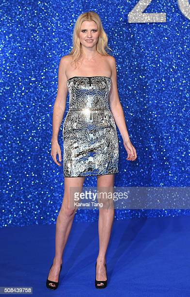 Lara Stone attends a London Fan Screening of the Paramount Pictures film 'Zoolander No 2' at Empire Leicester Square on February 4 2016 in London...