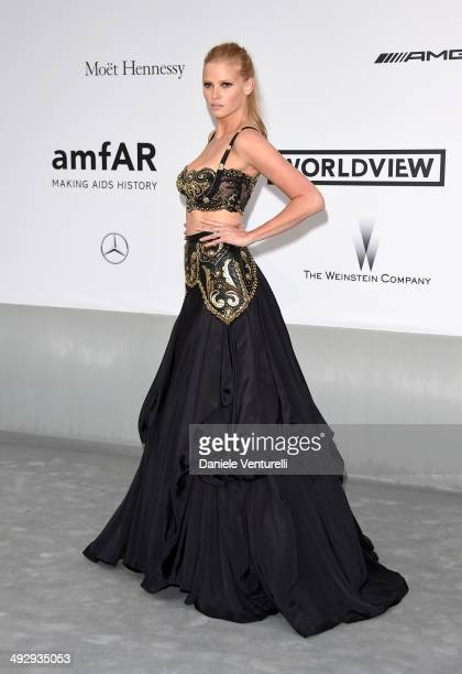 Lara Stone attends amfAR's 21st Cinema Against AIDS Gala Presented By WORLDVIEW BOLD FILMS And BVLGARI at Hotel du CapEdenRoc on May 22 2014 in Cap...