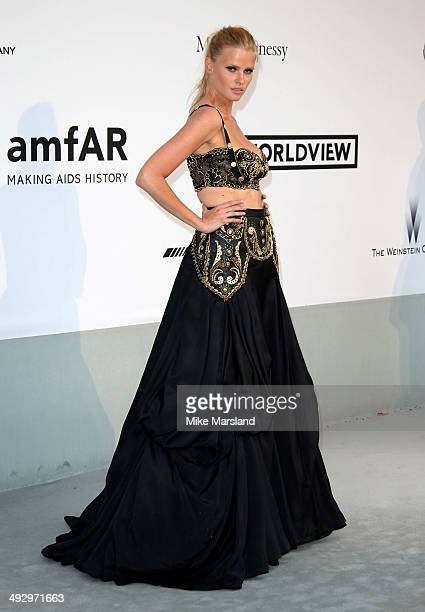 Lara Stone attends amfAR's 21st Cinema Against AIDS Gala, Presented By WORLDVIEW, BOLD FILMS, And BVLGARI at the 67th Annual Cannes Film Festival on...
