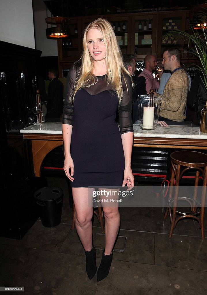 Lara Stone attends an after party following the press night performance of 'A Midsummer Night's Dream' at The National Cafe on September 17, 2013 in London, England.