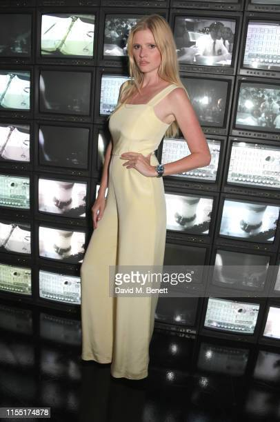 Lara Stone attends an OMEGA dinner celebrating the 50th anniversary of the Moon Landing at Television Centre on July 11, 2019 in London, England.