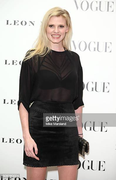 Lara Stone attends at Vogue 100 A Century Of Style atNational Portrait Gallery on February 9 2016 in London England