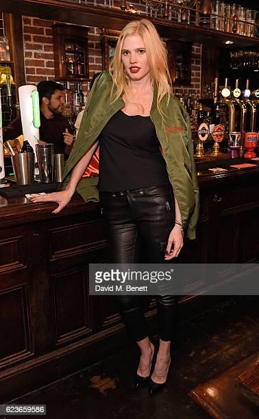 Lara Stone attends Frame Pub Quiz on November 16 2016 in London England