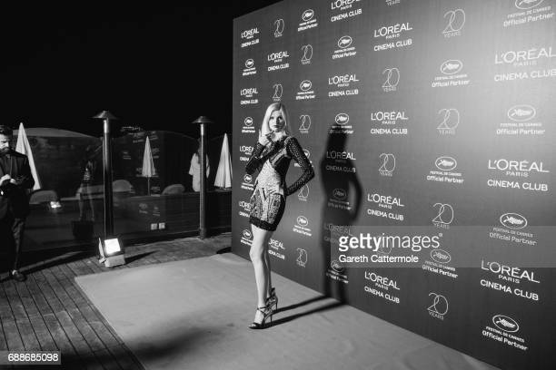 Lara Stone attends L'Oreal Paris Cinema Club party during the 70th Cannes Film Festival at Martinez Hotel on May 24 2017 in Cannes France