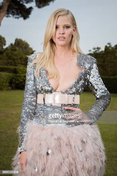 Lara Stone attends the amfAR Gala Cannes 2017 at Hotel du CapEdenRoc on May 25 2017 in Cap d'Antibes France