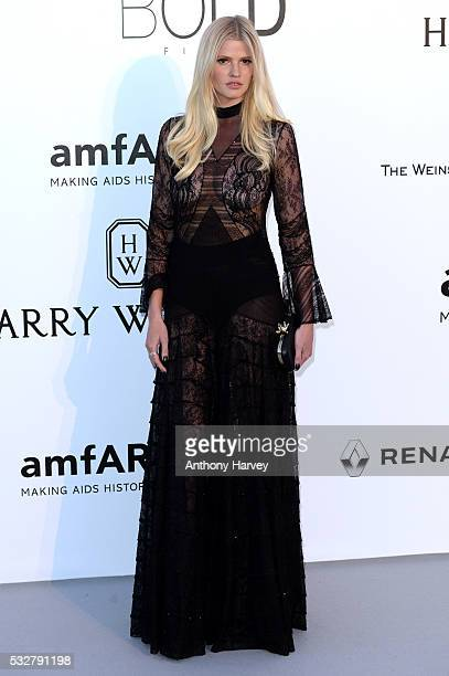 Lara Stone attends the amfAR's 23rd Cinema Against AIDS Gala at Hotel du CapEdenRoc on May 19 2016 in Cap d'Antibes France