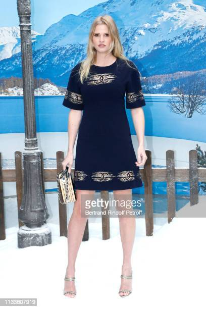 Lara Stone attends the Chanel show as part of the Paris Fashion Week Womenswear Fall/Winter 2019/2020 on March 05, 2019 in Paris, France.