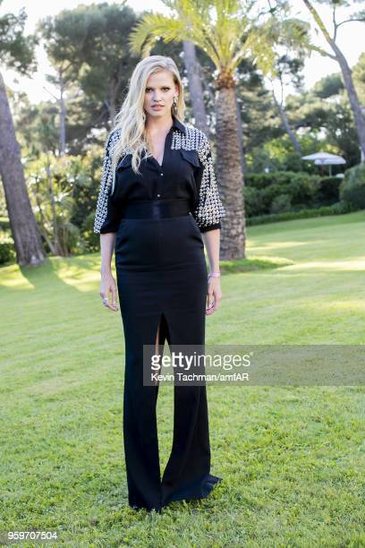 Lara Stone attends the cocktail at the amfAR Gala Cannes 2018 at Hotel du CapEdenRoc on May 17 2018 in Cap d'Antibes France