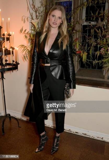 Lara Stone attends the Francois-Henri Pinault and Sarah Burton dinner In celebration of the Alexander McQueen Old Bond Street Flagship Store on...