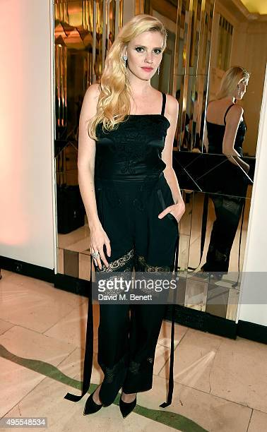 Lara Stone attends the Harper's Bazaar Women of the Year Awards 2015 at Claridges Hotel on November 3 2015 in London England