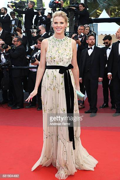 Lara Stone attends the Julieta premiere during the 69th annual Cannes Film Festival at the Palais des Festivals on May 17 2016 in Cannes France